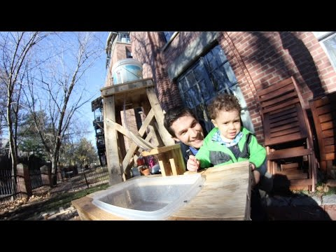 Daddy Engineer: Outdoor Play Sink | Design Squad