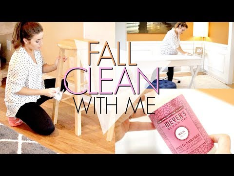 FALL CLEAN WITH ME | KITCHEN, LIVING ROOM, OFFICE | SPEED CLEANING | Love Meg