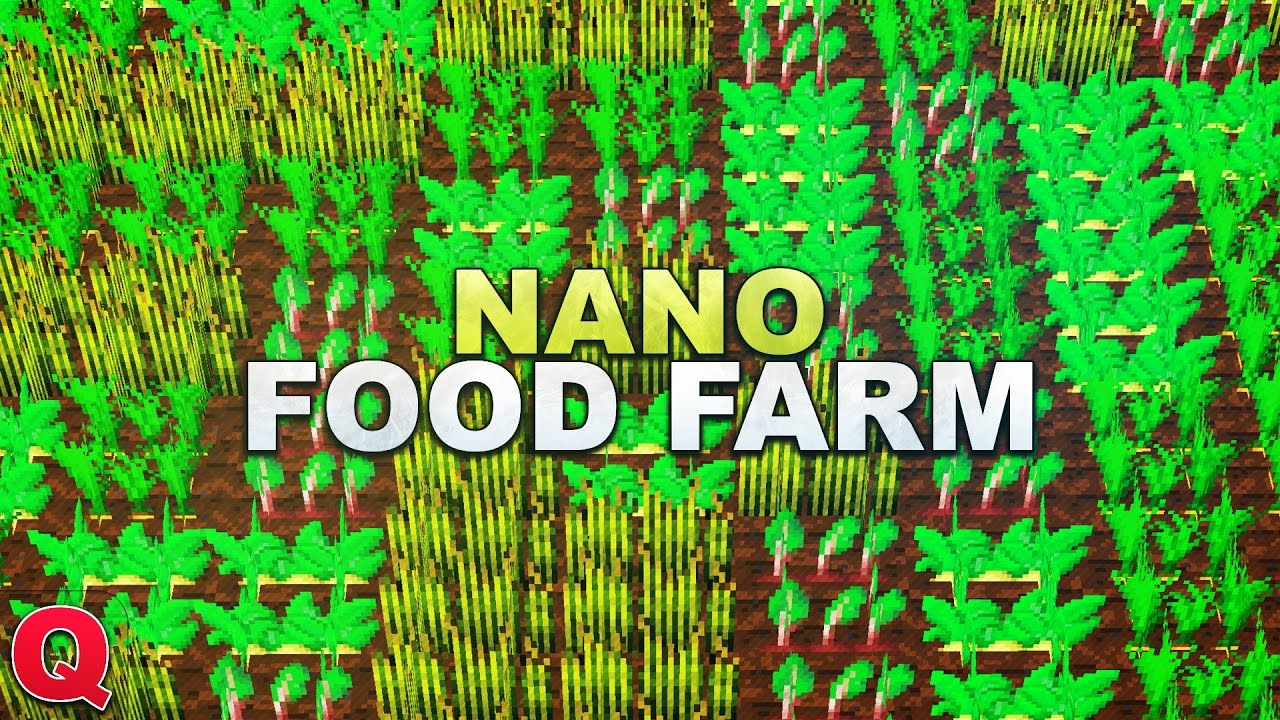 minecraft nano food farm quick tutorial youtube. Black Bedroom Furniture Sets. Home Design Ideas