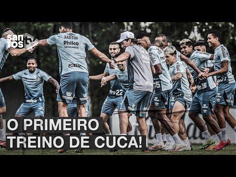 O PRIMEIRO TREINO DE CUCA NO #SANTOS