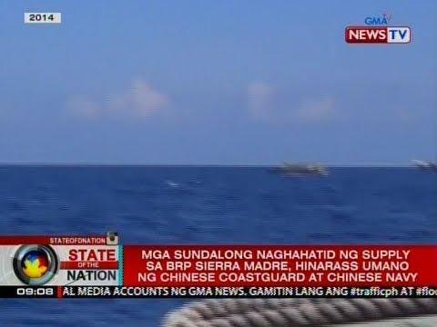 Mga sundalong naghahatid ng supply sa BRP Sierra Madre, hinarass umano ng Chinese coast guard