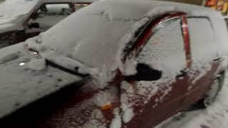 Lada 1117 cold start -13°C (Full HD)