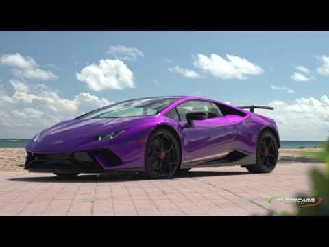 Lamborghini Huracan Performante Launch Control: Dash View on a Track