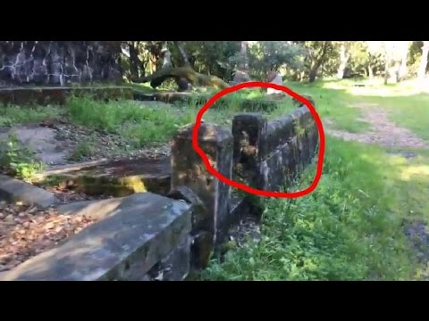 Ghost Caught on Video!! Spooky Satanic Cemetery 666