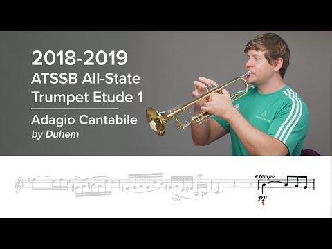 2018-2019 ATSSB All-State Trumpet Etude 1 - Voxman Pg. 8, Adagio Cantabile