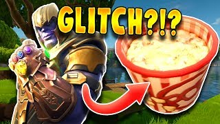 INSANE FORTNITE THANOS POPCORN GLITCH?!?