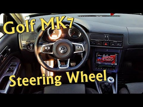 Golf MK7 R Steering Wheel on Golf MK4  YouTube