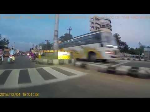 Driving around Pondicherry City