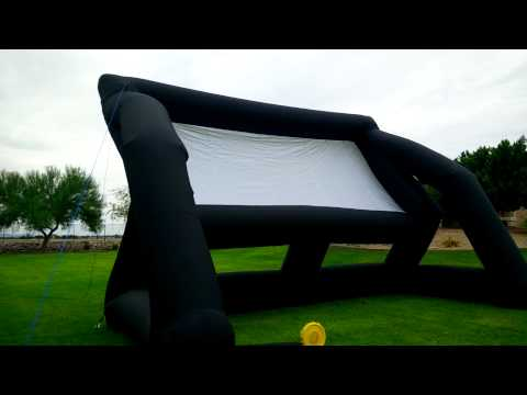 Setting up an Infl8 Inflatable Outdoor Movie Screen