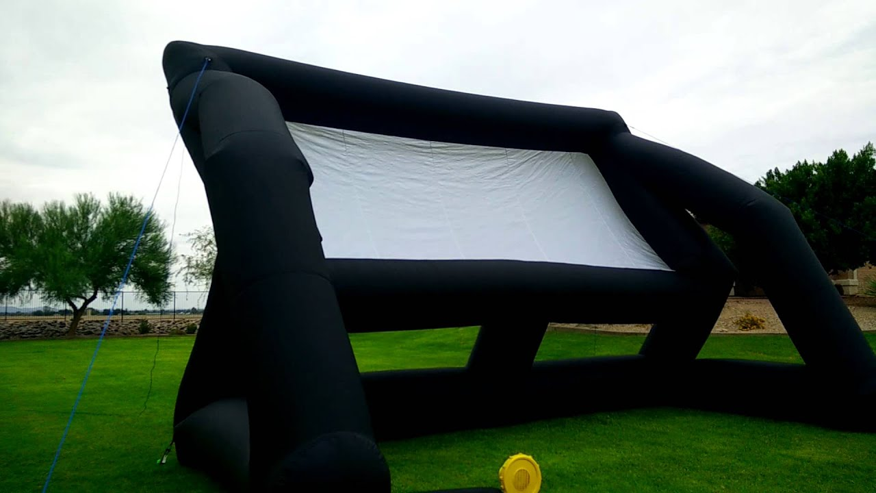 setting up an infl8 inflatable outdoor movie screen youtube