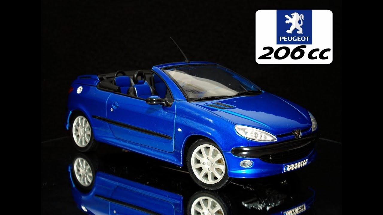 Peugeot 206 cc fotos 1:18 escala model car - YouTube