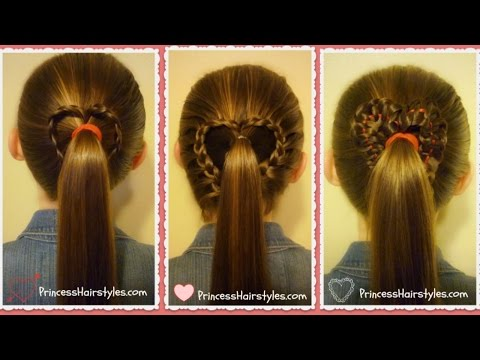 3 Heart Ponytails! Valentine's Hairstyles