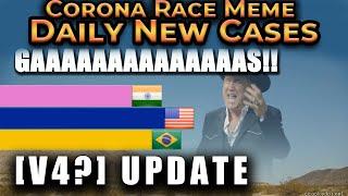 [V10?] Corona Race Meme - V4? Updated!   Daily New Cases [Revisited]