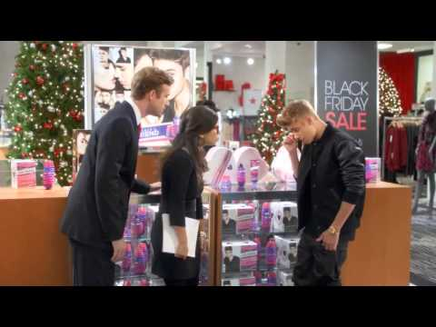 Justin Bieber Special Macys Christmas Commercial  - I Hope Santa Brings Me JB