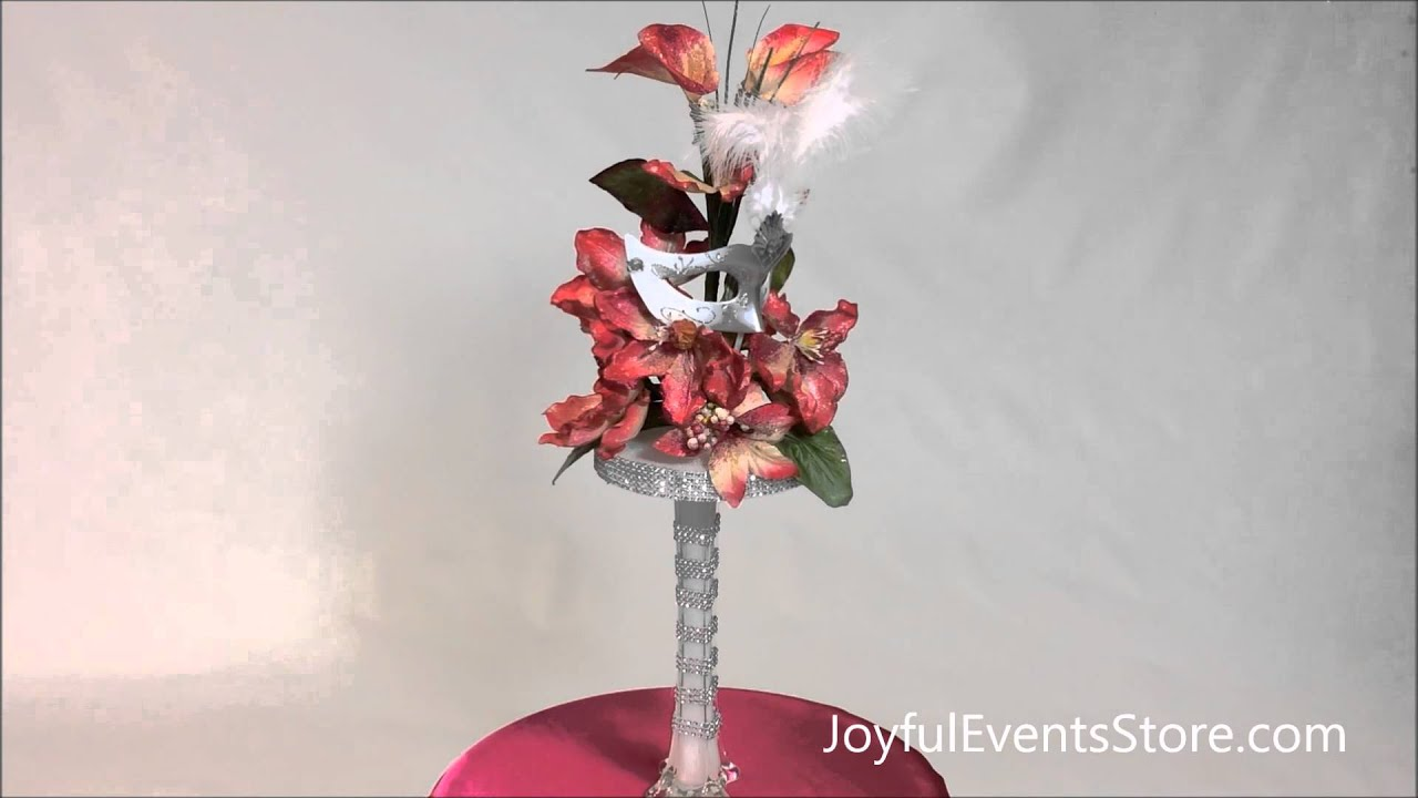 27 Quot Magnolia And Lily With Mask Centerpiece Cp38 Youtube