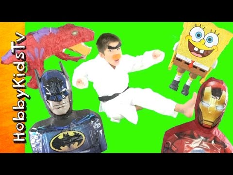 HobKarate Surprise Toy Piñata EGGS Featuring Batman and TMNT