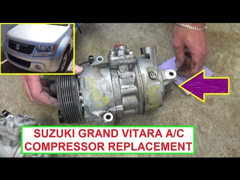 How to Remove and Replace the Air Conditioner Compressor on Suzuki Grand Vitara  A/C Compressor