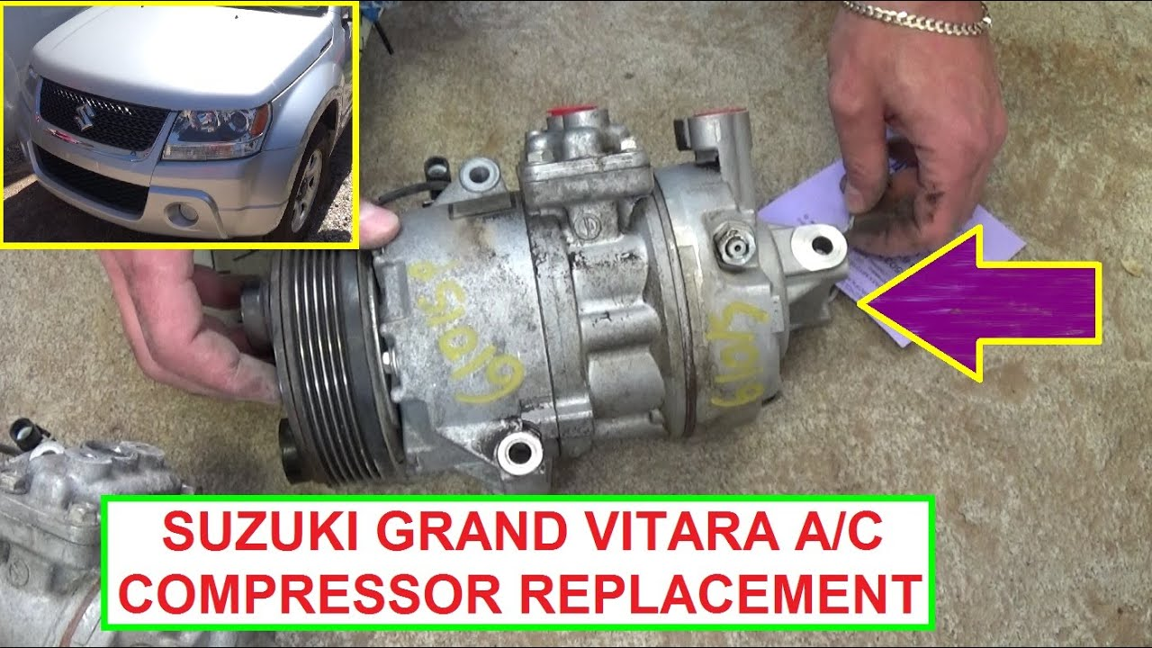 How to Remove and Replace the Air Conditioner Compressor on Suzuki ...