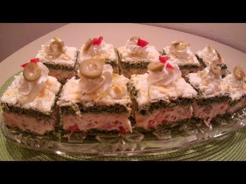 MINJON KOCKE -SLANO PREDJELO Minnie cubes salty cold appetizer