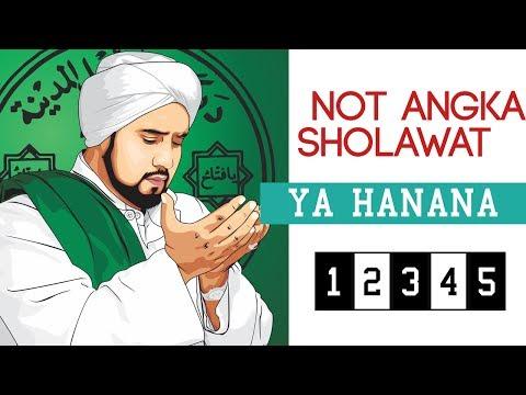 Not Angka Lagu Sholawat Ya Hanana - Habib Syech Syekhermania