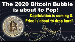 The 2020 Bitcoin bubble is about to pop! Capitulation is coming & BTC price is about to drop hard!