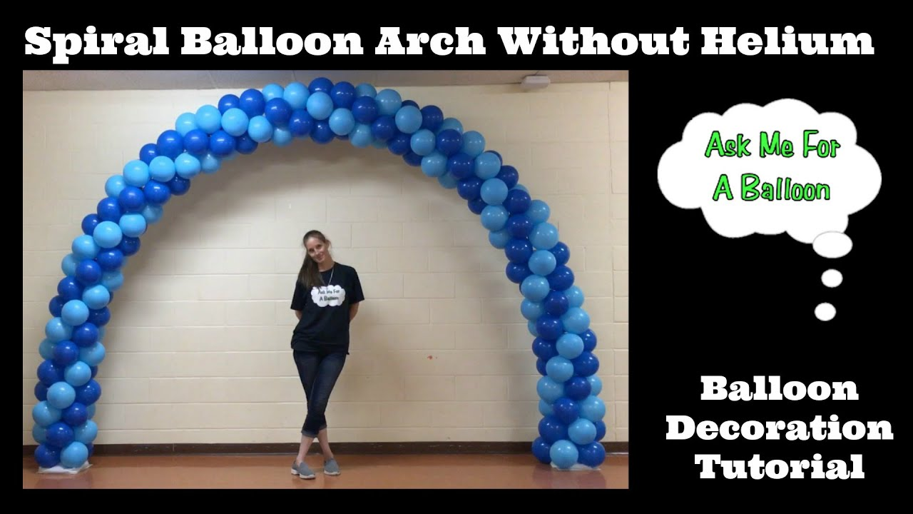 Spiral balloon arch tutorial without helium youtube for How to build a balloon arch