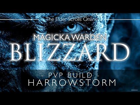ESO Magicka Warden PvP Build & Gameplay - Blizzard - Harrowstorm