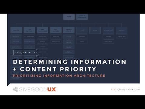 The Easier Way to Create IA: Establish Information Priority