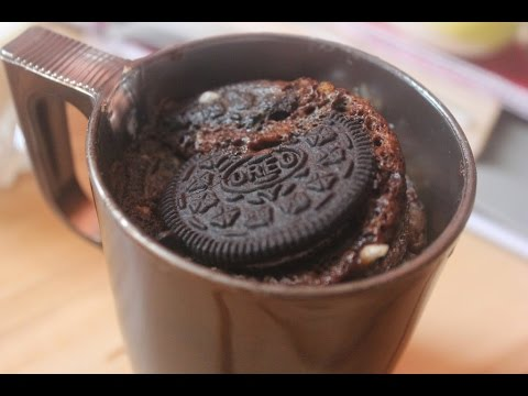 Two Minutes Oreo Mug Cake In A Microwave Youtube