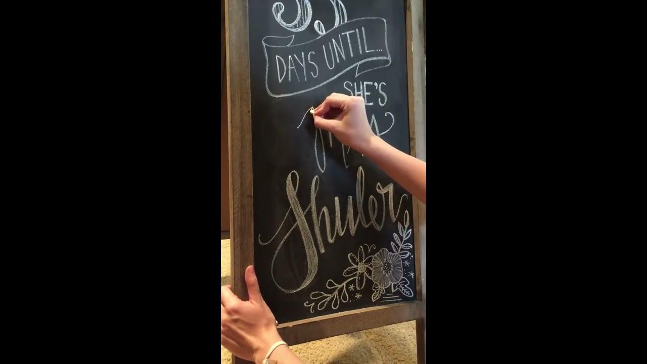 Bridal Shower Chalkboard Hand Lettering - YouTube