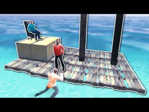 BUILDING RAFTS TO ESCAPE ISLAND! - Garry's Mod Gameplay - Gmod Sandbox Build Challenge
