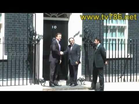 London President Asif Ali Zardari's meeting with UK's Prime Minister