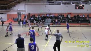 Acton Boxborough Varsity Boys Basketball @ Wayland 1/22/12