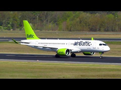 RARE! Air Baltic CS300 [YL-CSA] SUNNY Landing and Takeoff from Berlin Tegel Airport!