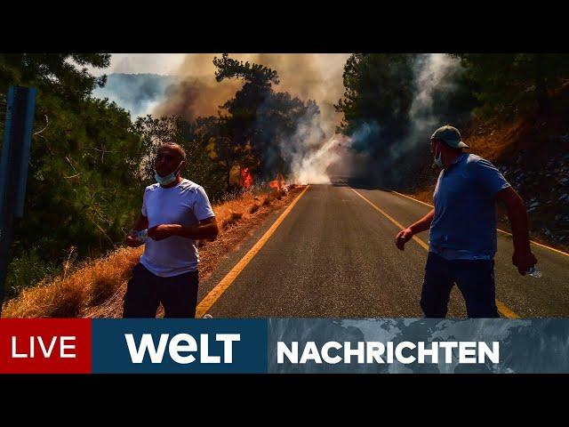 EUROPA BRENNT: Bedrohliche Feuer in Türkei, Italien und Griechenland | WELT Newsstream