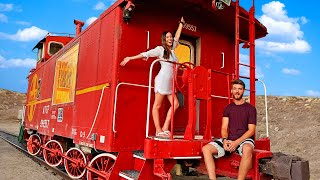 We Stayed Overnight on an Abandoned Train!