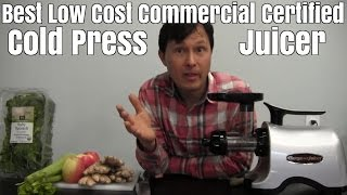 Best Low Cost Commercial Certified Cold Press Juicer for Ginger & Other Vegetables