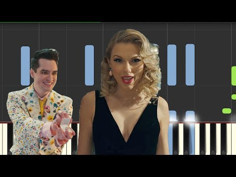 "Taylor Swift - ""Me"" Piano Tutorial/cover (feat Brendon Urie) thumbnail"