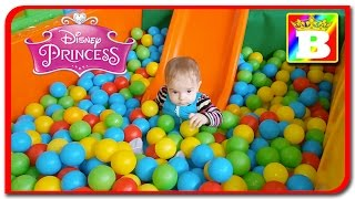 Anabella Show on playground with pit ball.  9 Month baby on Bogdan`s Show.