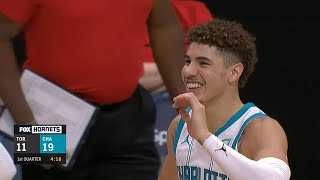 Lamelo Ball Gets His First Nba Bucket Hornets Vs Raptors Youtube