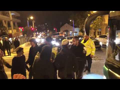 עימותים בין מפגינים לשוטרים. צילום: לירן תמרי