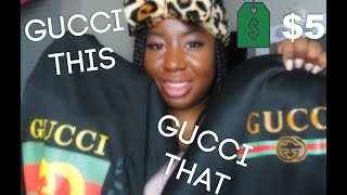 Boujee On A Budget $5 Men's Gucci Clothes | iOffer dhgate Unboxing Haul |BrittneyBeatsxo