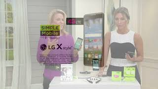 Simple Mobile LG 53 X Style LTE Smartphone w/ 2 Unlimited 30-Day Plans on QVC