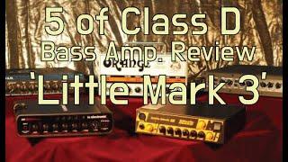 Mark Bass Little Mark 3 - Class D Bass Amp.