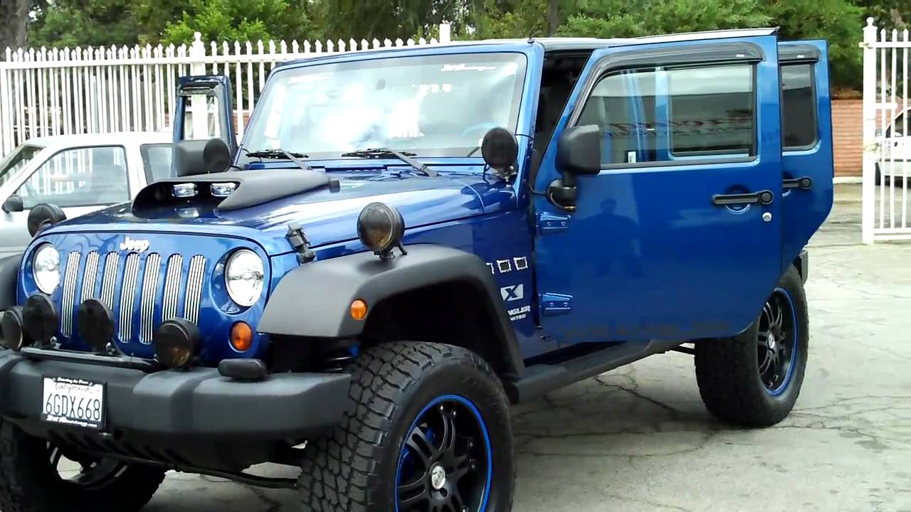 2kracing Jeep Wrangler Unlimited X Custom 4dr Lifted Audio