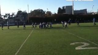 Big hit by No. 2 in the Pop Warner game at halftime of the Lions Bowl. #scscore #sccb thumbnail