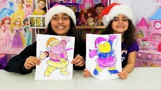 3 MARKER CHALLENGE with Santa and the Grinch!! Christmas Edition