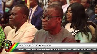 Inauguration of Development Authorities & Zongo Dev't Fund