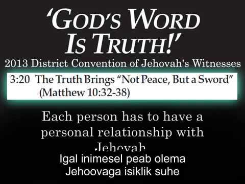Šokeeriv Jehoova tunnistajate konvendi kõne käseb vanematel oma lastega mitte rääkida