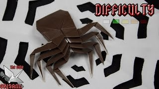 [ORIGAMI TUTORIAL] Spider || Halloween/Animals/Easy